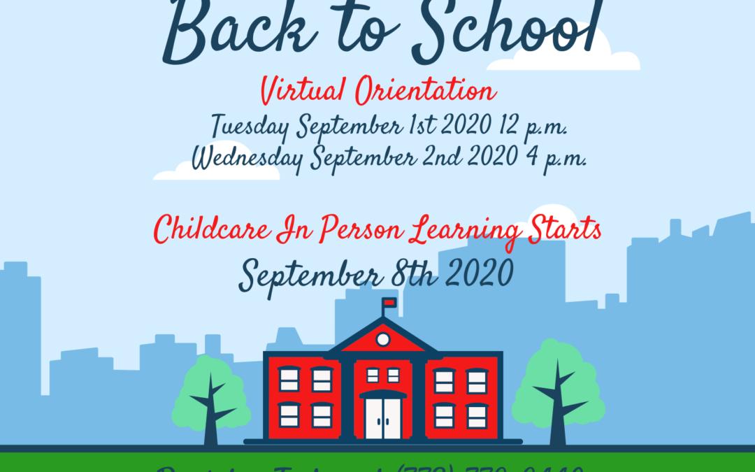 Virtual Orientation for Child Care Center